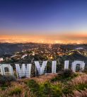 Los Angeles, USA - February 29, 2016: The Hollywood sign overlooking Los Angeles. The iconic sign was originally created in 1923.